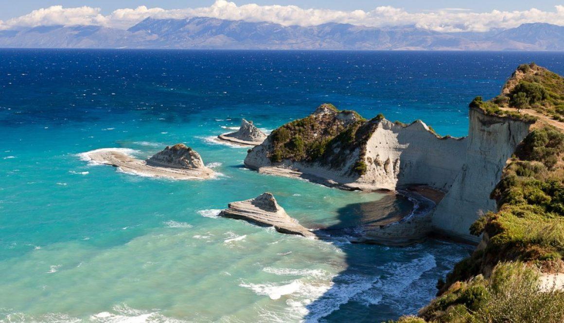 Cape Drastis, Corfu island, Greece.