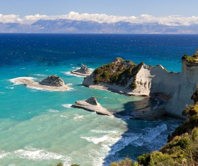 Cape Drastis, Corfu island, Greece.